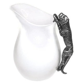 Elegance Ceramic Water Pitcher with Tiger Handle
