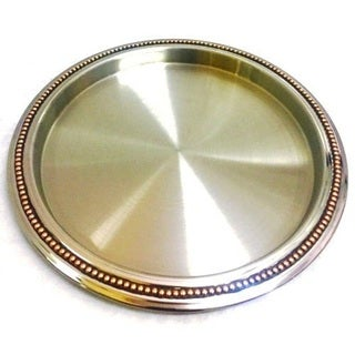 Elegance Bar Tray with Copper Rivet Band