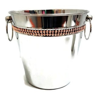 Elegance Champagne Bucket with Copper Rivet Band