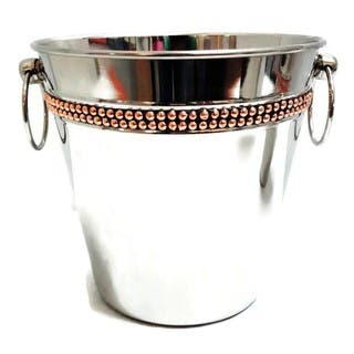 Elegance Champagne Bucket with Copper Rivet Band|https://ak1.ostkcdn.com/images/products/14153424/P20755289.jpg?impolicy=medium