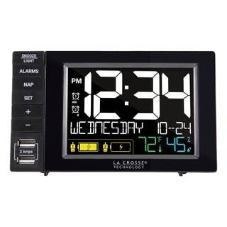 La Crosse Technology Dual Alarm Clock with Dual USB Charging Station|https://ak1.ostkcdn.com/images/products/14153433/P20755290.jpg?impolicy=medium