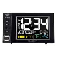 La Crosse Technology Dual Alarm Clock with Dual USB Charging Station