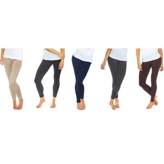 Maze 6-Pack Women's Solid Fleece Lined Leggings