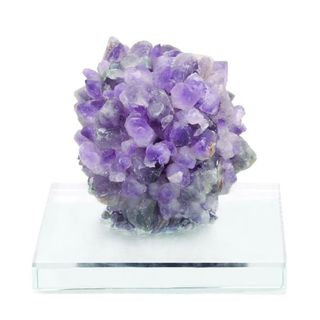 Benzara Amethyst Gem on Glass 6 x 5 Sculpture