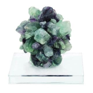 Benzare Multicolored Fluorite Glass Gem Sculpture