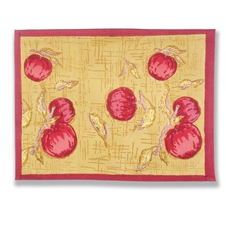 Couleur Nature Orchard Yellow and Red Cotton Placemats (Pack of 6)