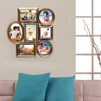 Adeco Gold-tone Plastic 7-photo Frame