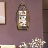 Adeco Plastic Antiqued 3-opening Photo Frame