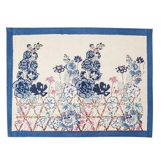 Couleur Nature Fleur Sauvage Blue Cotton Placemats (Pack of 6)