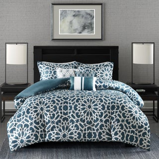 Madison Park Elena Teal Duvet Cover Set Full/ Queen Size (As Is Item)
