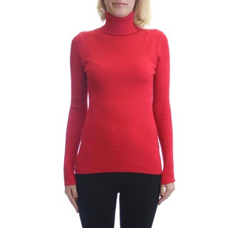 Dinamit Fashion Women's Cotton and Lycra Turtleneck Pullover Sweater (Option: M)