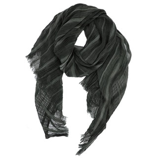 LA77 Striped Viscose Fringe Scarf