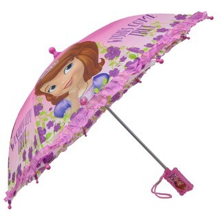 Disney Girls' Sofia the First Pink Ruffles Umbrella