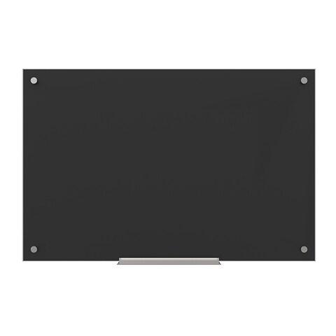 U Brands Black Surface, Frameless 35 x 23-inch Glass Dry Erase Board
