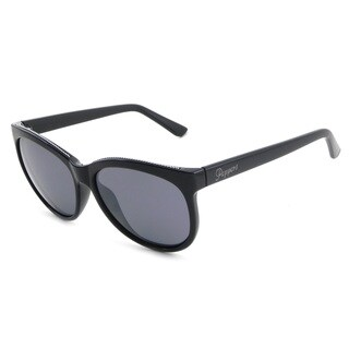 Peppers Ona Shiny Black Frame Smoke Polarized Lens Sunglasses