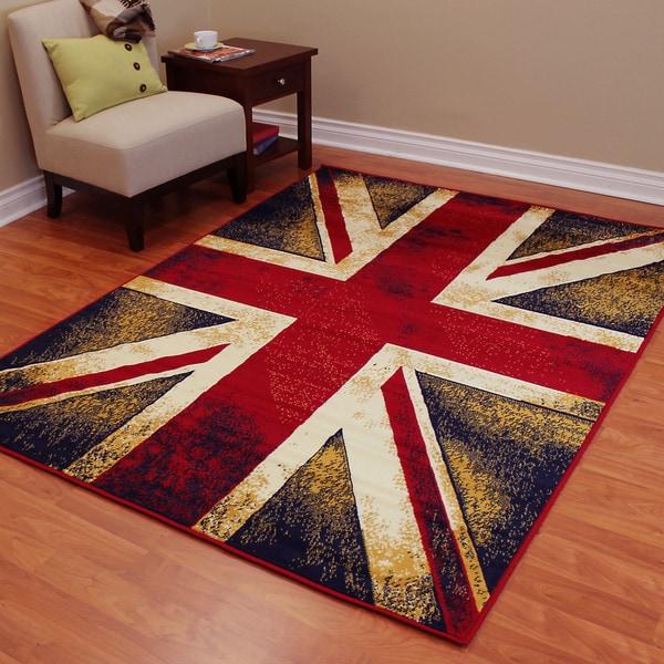 American Patriot Flag Of England Union Jack 2 Polypropylene Area Rug 5 X27