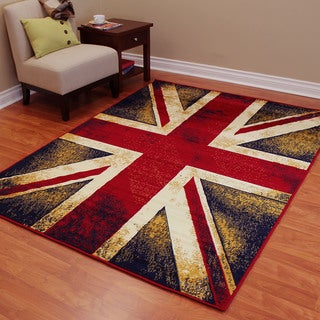 American Patriot Flag of England Union Jack-2 Polypropylene Area Rug (5'2.5 x 7'2)