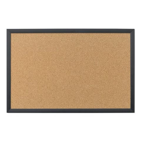 U Brands Black Frame 35 x 23-inch Cork Bulletin Board