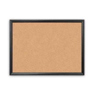 U Brands Cork 23-inch x 17-inch Bulletin Board with Black Wood Frame