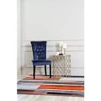 "Persian Rugs Modern Abstract Pop of Rustic Orange Area Rug - 7'10"" x 10'6"""
