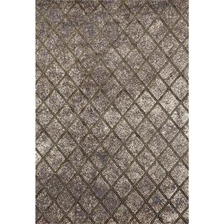 """Persian Rugs Squared Lines Multi Colored Area Rug - 5'2"""" x 7'2"""""""