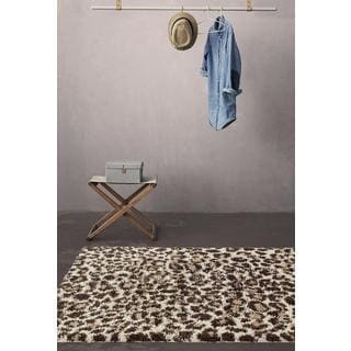 Persian Rugs Shaggy Animal Print Area Rug (5'2 x 7'2)