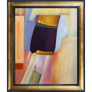 Clive Watts 'An Abstract Composition' Hand Painted Framed Oil Reproduction on Canvas