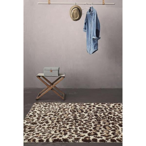 Persian Rugs Shaggy Animal Print Accent Rug 2 X27