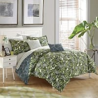 StyleNest Palm Leaf Bed in a Bag Bedding Set