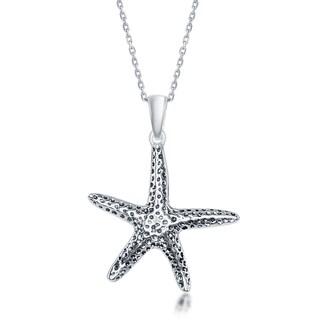 La Preciosa Sterling-silver Oxidized Starfish Pendant