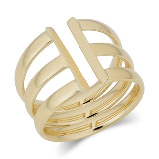 Fremada Italian 14k Yellow Gold Triple Open Band Ring