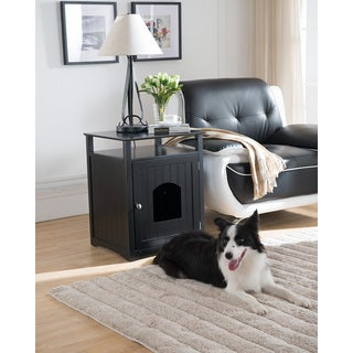 Molly Black Pet Crate End Table