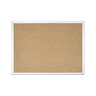 U Brands Basics Silver Aluminum Frame 70 x 47-inch Cork Bulletin Board