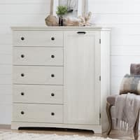 South Shore Avilla Door Chest with 5 Drawers