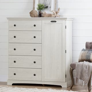South Shore Avilla Door Chest with 5 Drawers  Winter Oak. Off White Dressers   Chests For Less   Overstock com