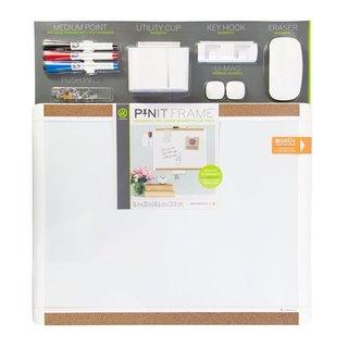 U Brands White Plastic Pin-It Magnetic 20 x 16 Dry Erase Board