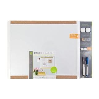 U Brands Pin-It White Plastic 20-inch x 16-inch Magnetic Dry-erase Board
