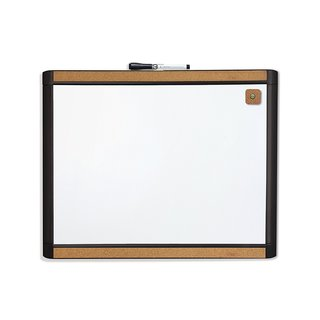 U Brands Pin-It Black Plastic Magnetic Dry-erase Board (20 x 16)