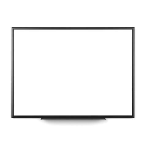 U Brands Black Frame 47 x 35-inch Magnetic Dry Erase Board