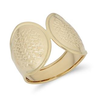 Fremada Italian 14k Yellow Gold Bold Diamond-Cut Ring