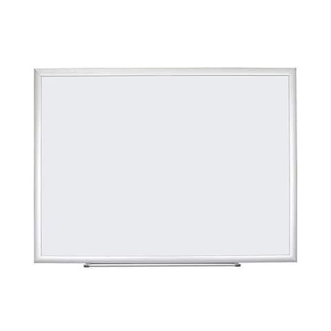 U Brands Basics Melamine Surface Silver Aluminum Frame 23 x 17-inch Dry Erase Board