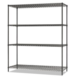 Alera All-Purpose Wire Shelving Starter Kit 4-Shelf 60 x 18 x 72 Black Anthracite