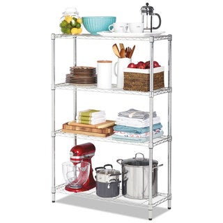 Alera Residential Wire Shelving Four-Shelf 36-inch wide x 14-inch deep x 54-inch high Silver