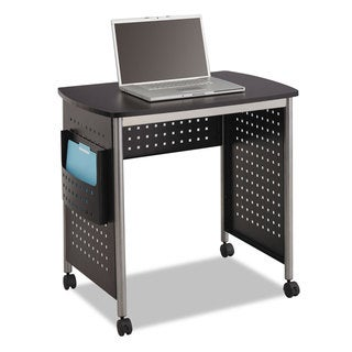 Safco Scoot Computer Desk 32-1/4-inch wide x 22-inch deep x 30-1/2-inch high Black/Silver