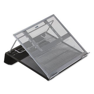 Rolodex Laptop Stand/Holder 13-inch wide x 11 3/4-inch deep x 6 3/4-inch high Black/Silver