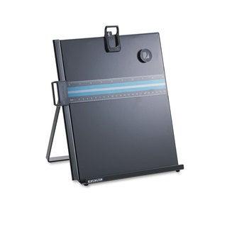 Kensington Letter-Size Freestanding Desktop Copyholder Stainless Steel Black