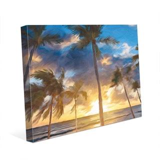 'Sunset Beach' Canvas Print Wall Art
