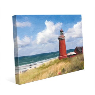 'The Red Lighthouse' Canvas Print Wall Art