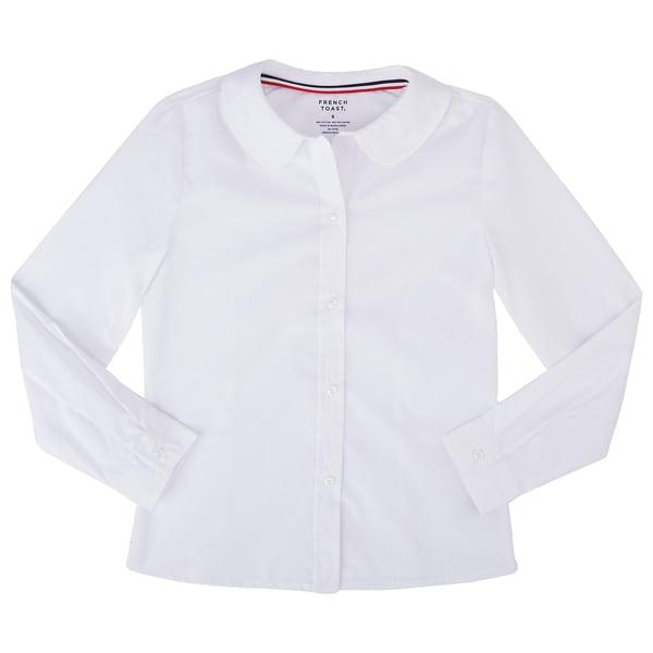 French Toast School Uniform Girls Short Sleeve Modern Peter Pan Blouse