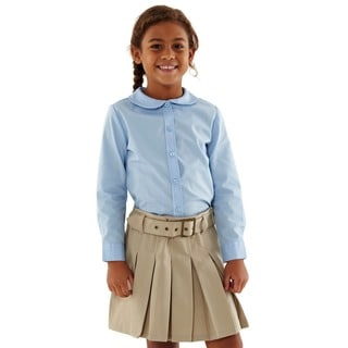 French Toast Girls' Long-sleeve Modern Peter Pan Blouse